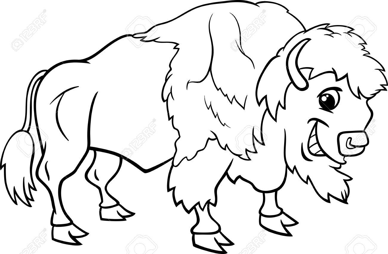 Cartoon drawing at getdrawings. Buffalo clipart black and white