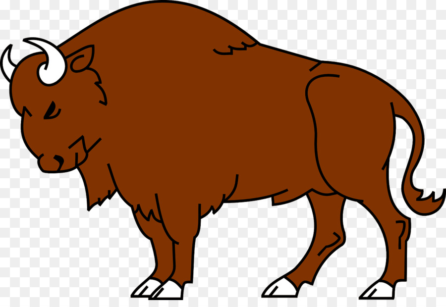 Bison clipart transparent. Animal cartoon ox clip