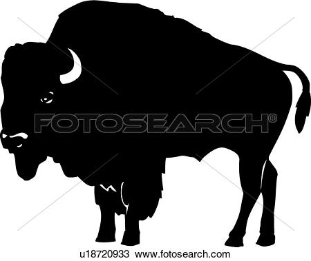 Clipground royalty free clip. Bison clipart vector