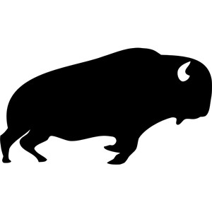 Bison clipart vector. Free black cliparts download