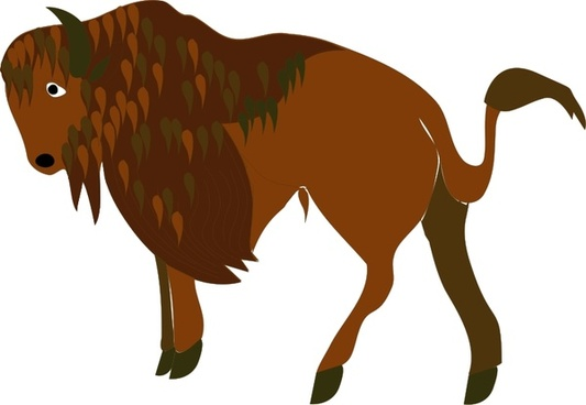 Free download for commercial. Bison clipart vector