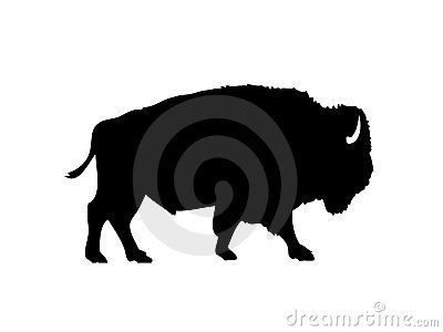 American silhouette download from. Bison clipart vector