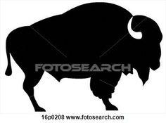 Bison clipart white background. Silhouette clip art diy