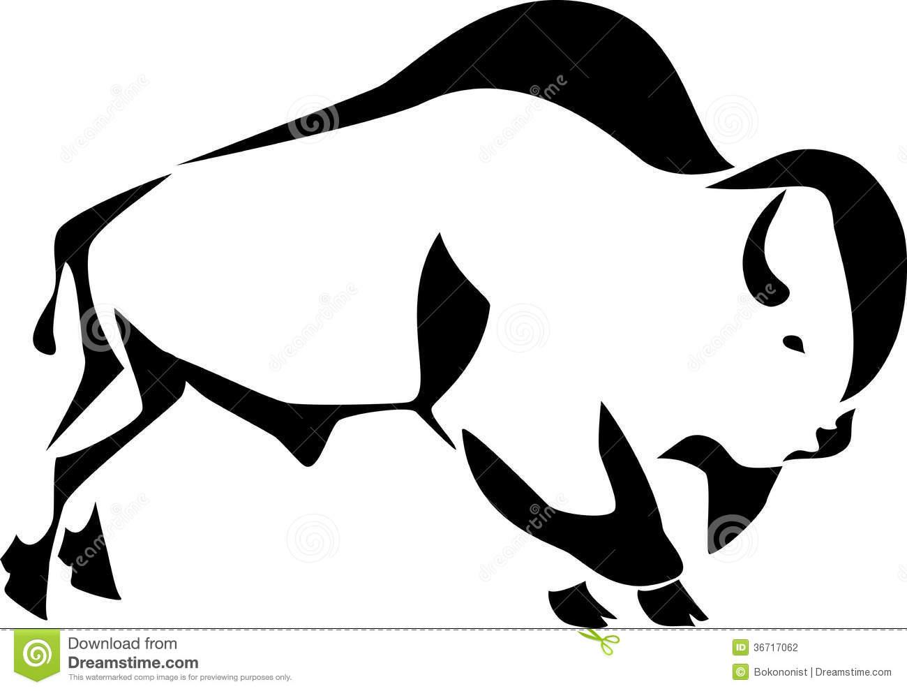 Head . Bison clipart white background