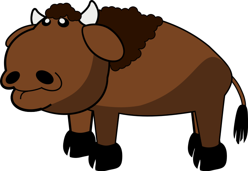 Clip art library. Bison clipart yak