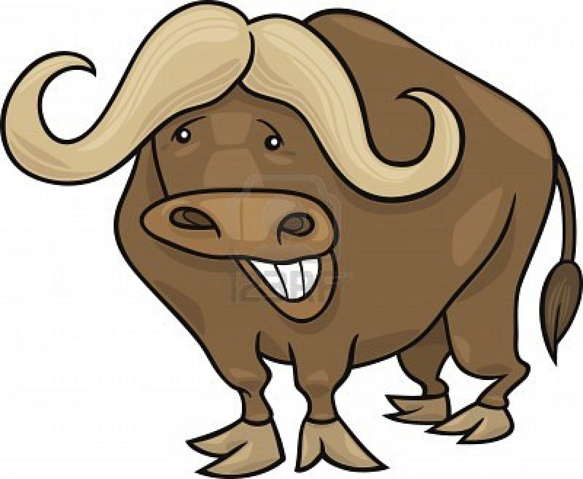 Bison clipart yak. Water buffalo pencil and