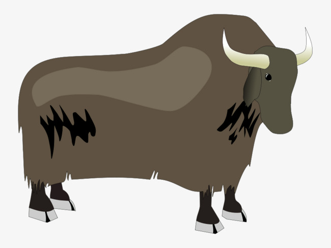 Bison clipart yak. Cartoon side animal png