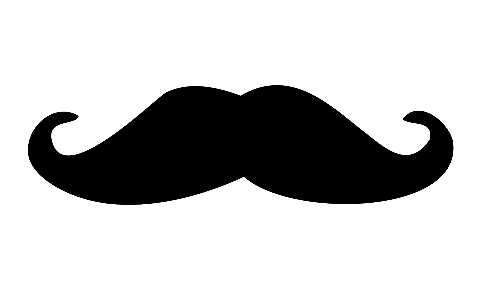 Black free stock photo. Moustache clipart