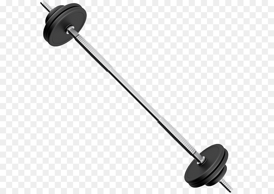 Black clipart barbell. Weight training physical exercise