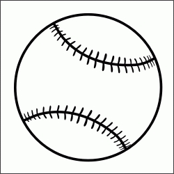 And white letters. Black clipart baseball