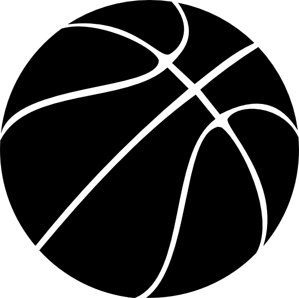 Goal clipart basket ball. Basketball black and white