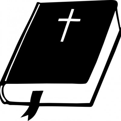 Black and white panda. Clipart bible closed bible