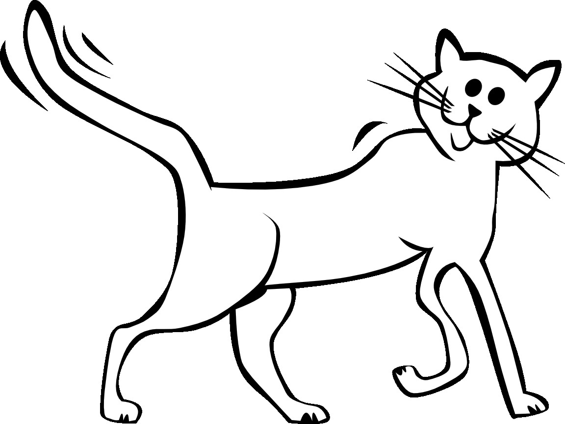 Cat rescuedesk me crayon. Black clipart black and white