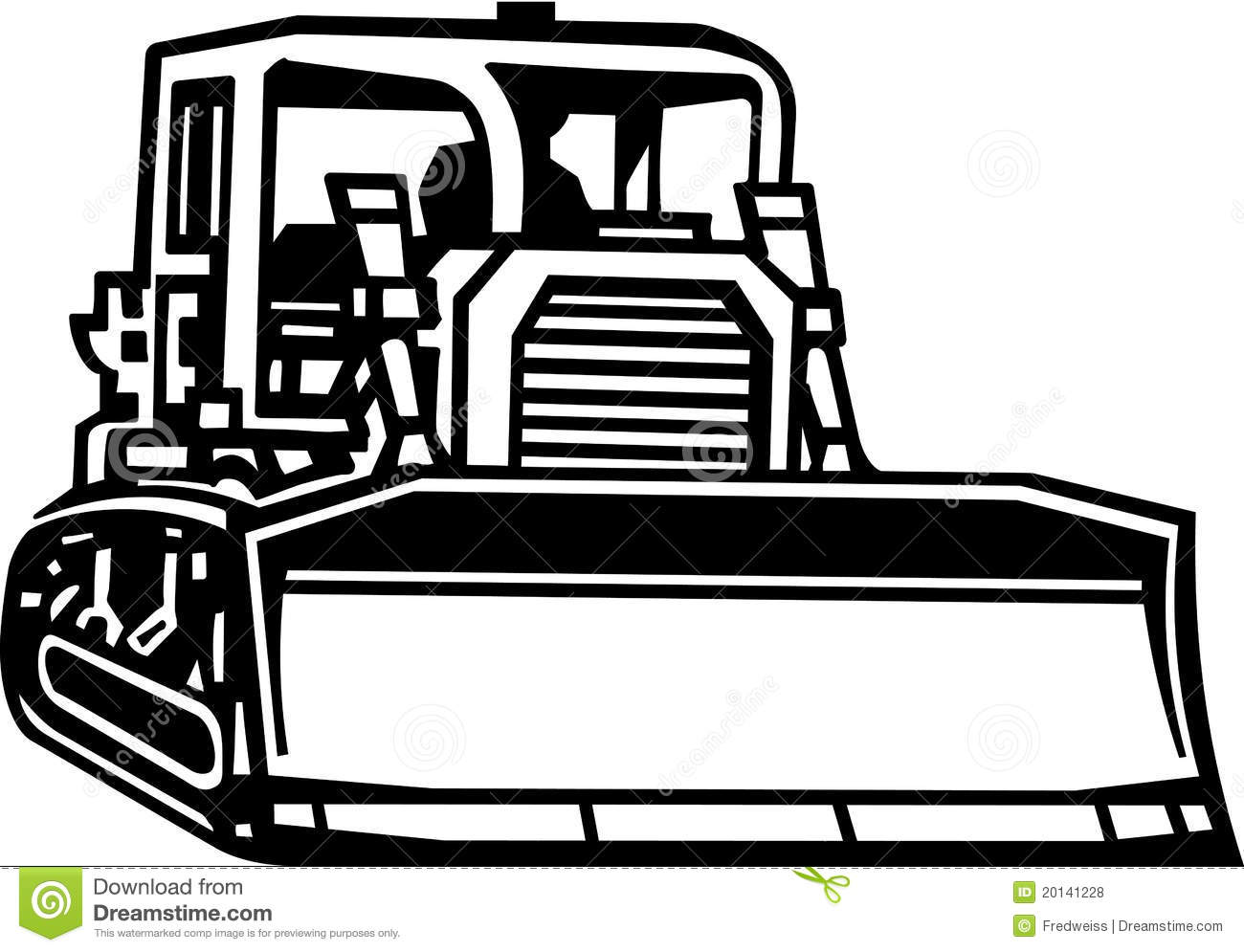 Station . Bulldozer clipart black and white