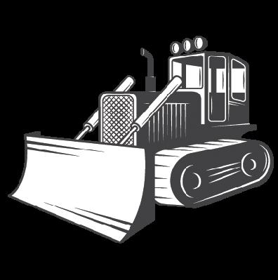 The arts image pbs. Bulldozer clipart black and white