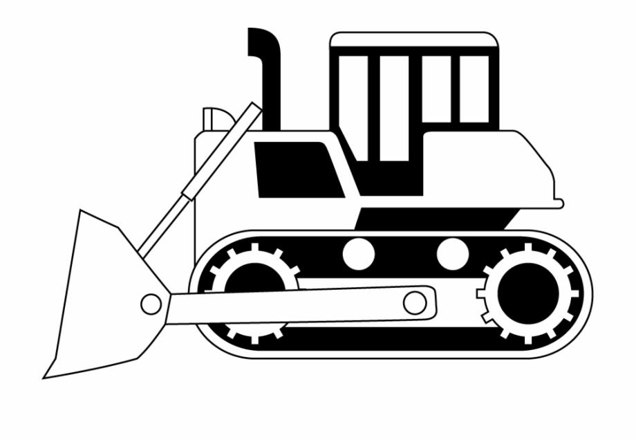 Construction site trucks . Bulldozer clipart black and white