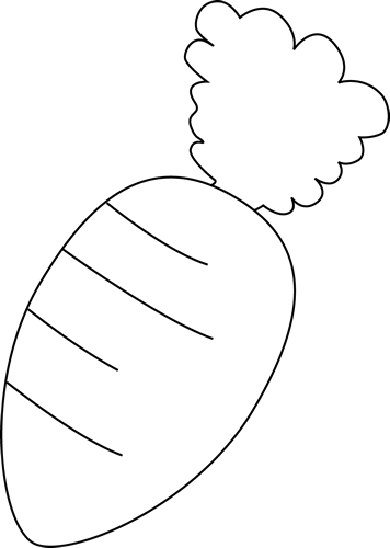 And white clip art. Black clipart carrot