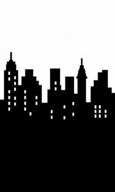 Buildings clipart comic book. Gotham city skyline clip