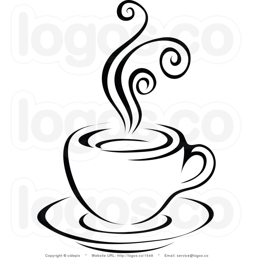 Clipart coffee black and white. Panda free images