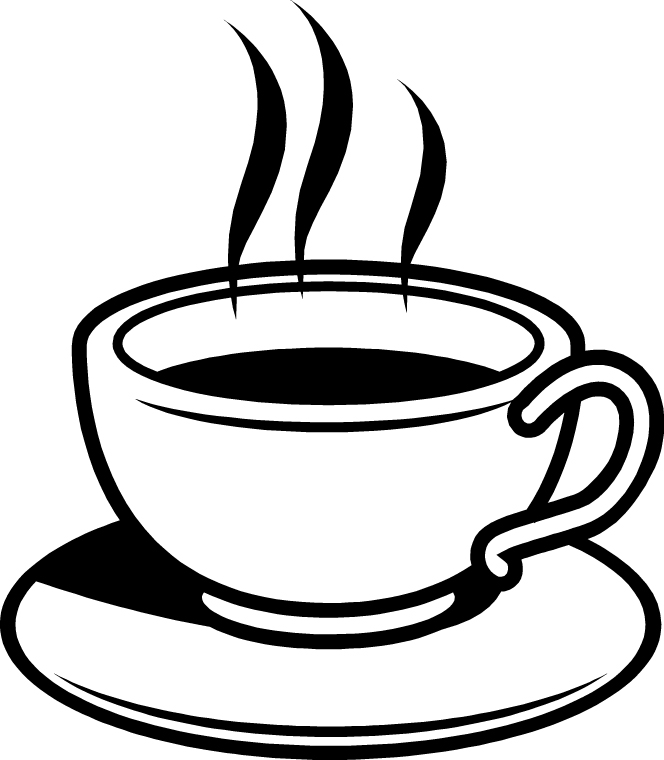collection of hot. Black clipart coffee