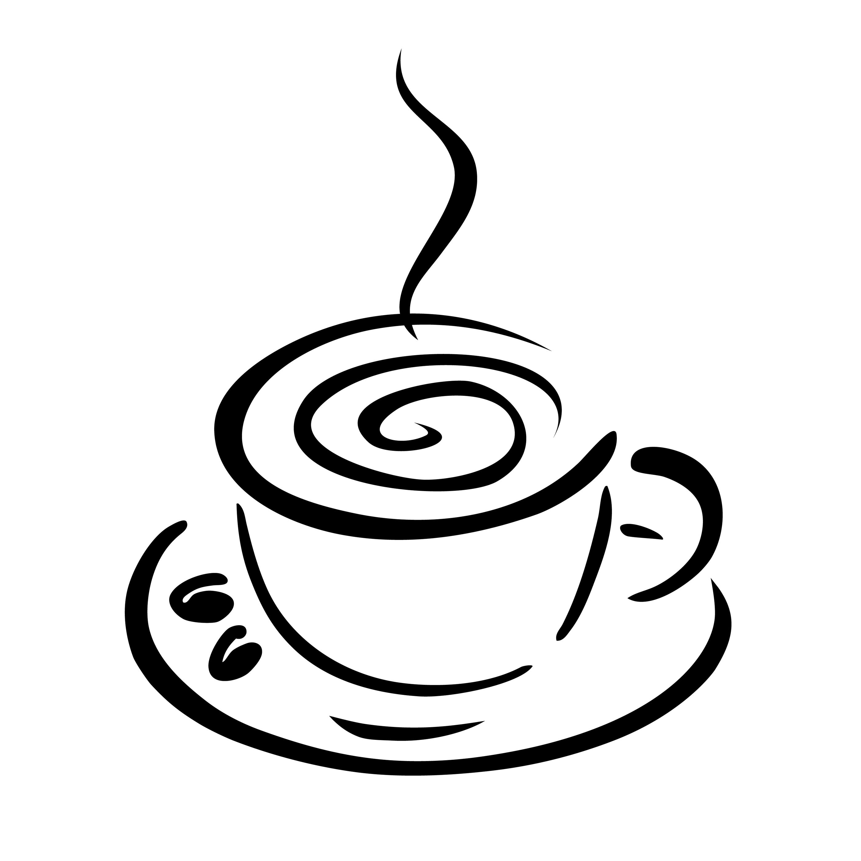 Cafe clipart black and white. Coffee cup kid