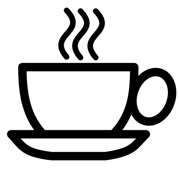 Clip art and white. Black clipart coffee