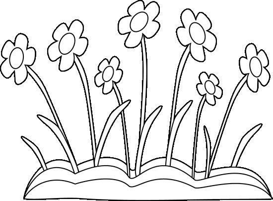 Flowers and white flower. Black clipart easter