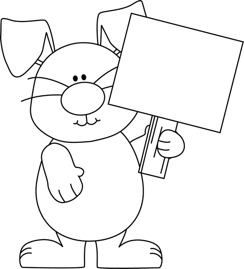 Black clipart easter. Bunny clip art images
