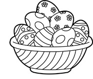 Free and white holiday. Black clipart easter