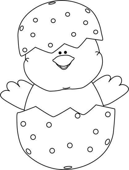 And white picture day. Black clipart easter
