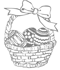 Free and white public. Black clipart easter