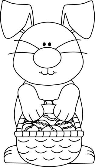 Bunny eggs pinterest. Clipart easter black and white