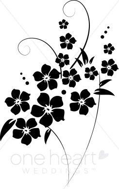Flourish clipart flower. Free clip art black