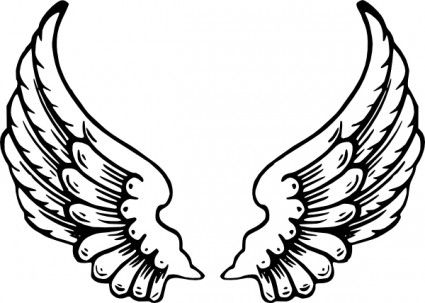 Wing clipart baby angel. Wings clip art daycare