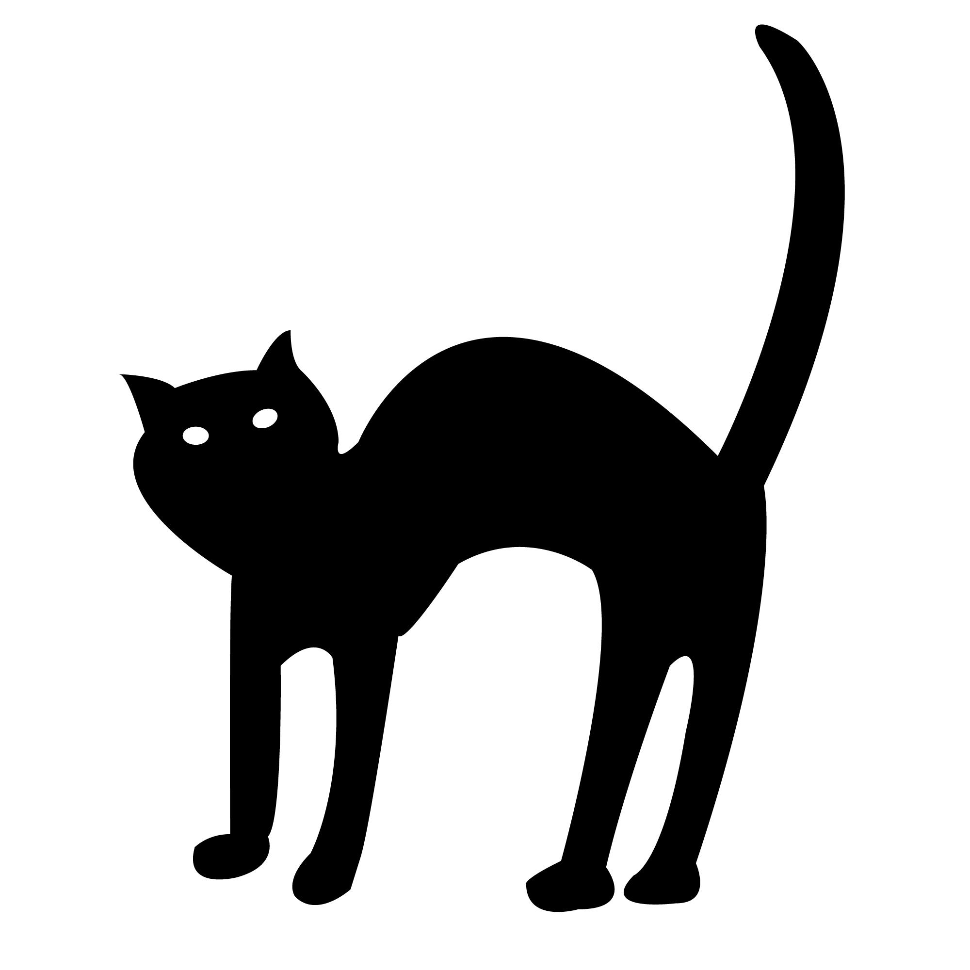 Cat . Black clipart halloween