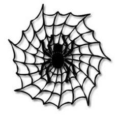 Add die cut spiders. Black clipart halloween