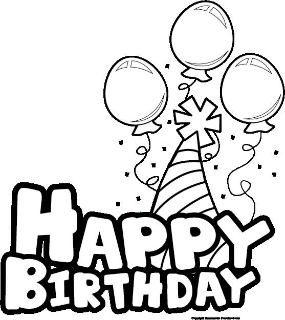 Black clipart happy birthday. And white best wishes