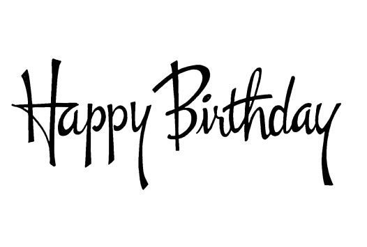Black clipart happy birthday. White greetings