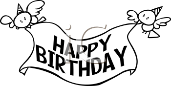 Banner panda free images. Black clipart happy birthday
