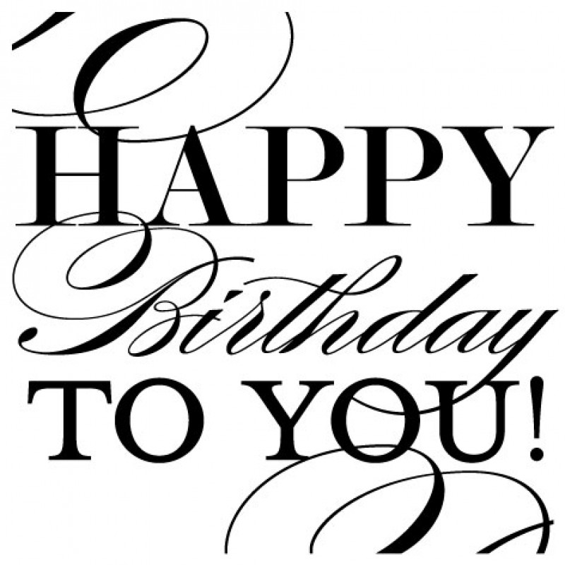 For women best wishes. Black clipart happy birthday