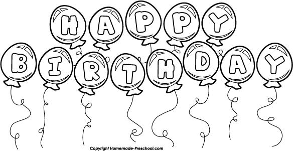 Fun and free themins. Black clipart happy birthday