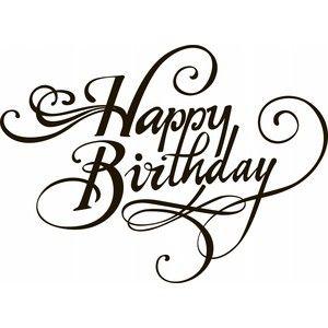 f cc c. Black clipart happy birthday
