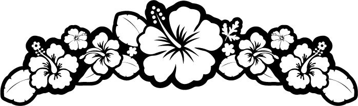 Free hibiscus download clip. Flower black and white png