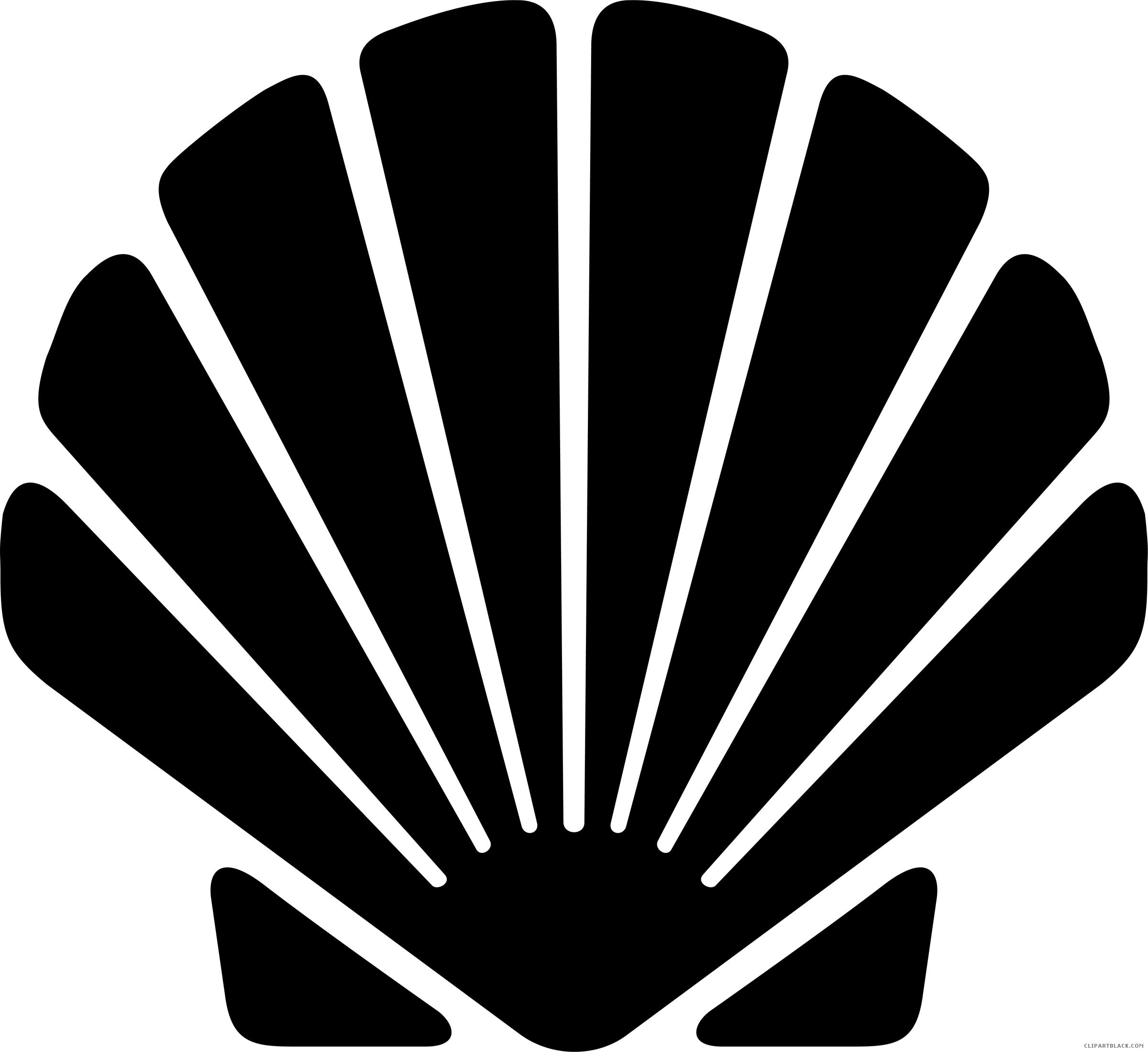 Black clipart seashell. Silhouette clipartblack com animal