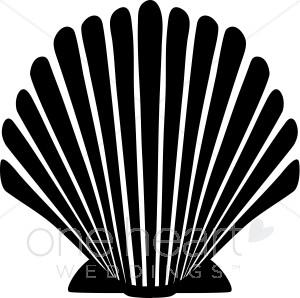 Black clipart seashell. Wedding seasons images
