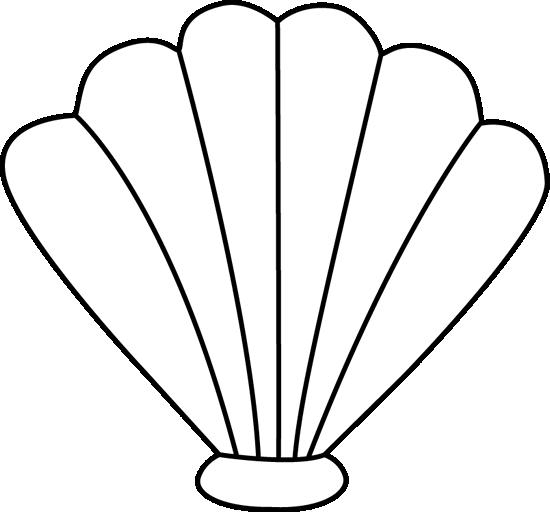 Sea clip art image. Shell clipart