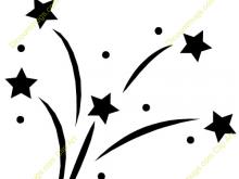 Stars for teachers clip. Black clipart shooting star