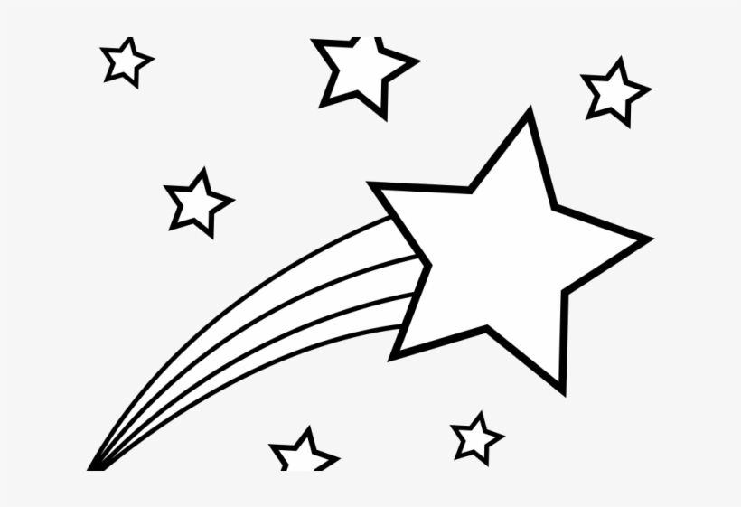 Black clipart shooting star. Drawn volcom and