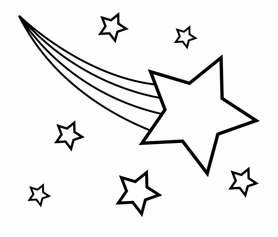 Of stars and addition. Black clipart shooting star