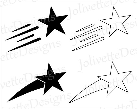 Silhouette at getdrawings com. Black clipart shooting star
